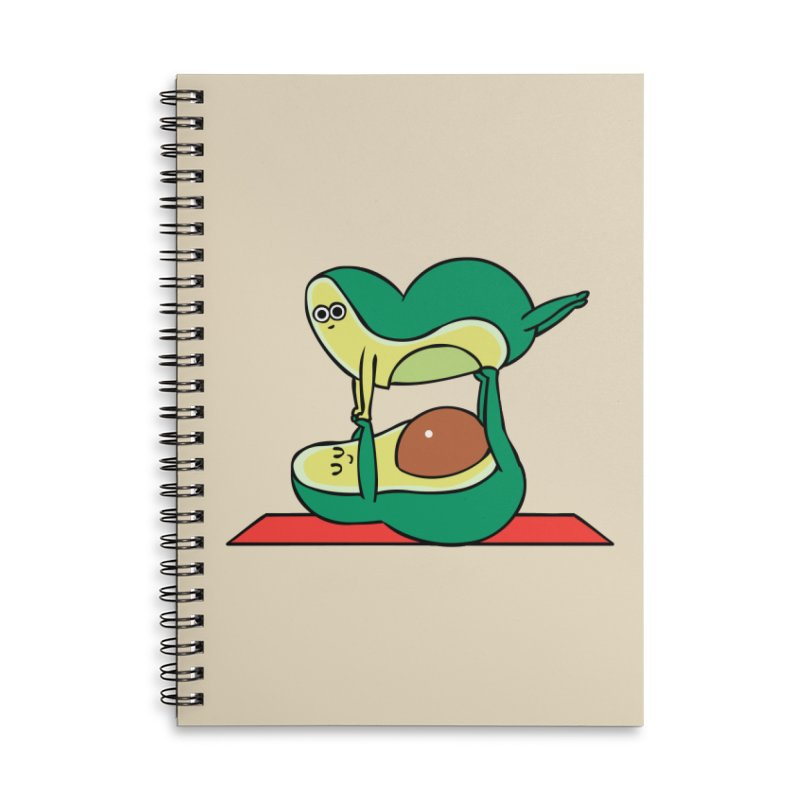 Acroyoga Avocado Accessories Lined Spiral Notebook by huebucket's Artist Shop