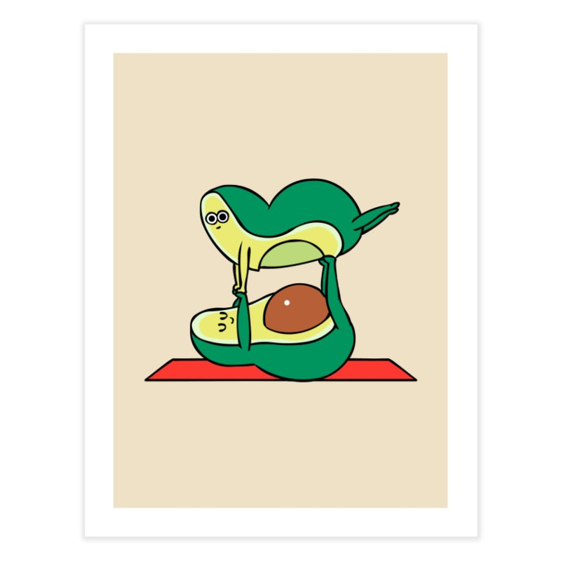 Acroyoga Avocado Home Fine Art Print by huebucket's Artist Shop