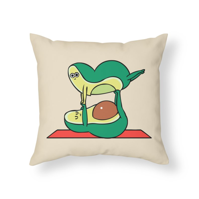 Acroyoga Avocado Home Throw Pillow by huebucket's Artist Shop