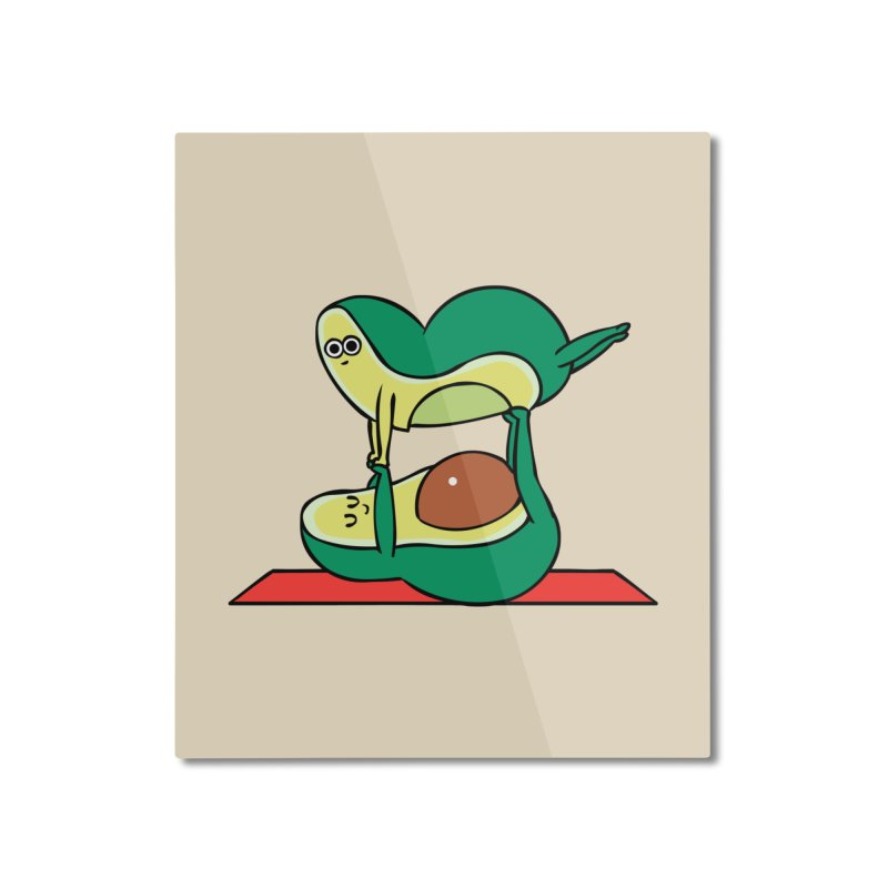 Acroyoga Avocado Home Mounted Aluminum Print by huebucket's Artist Shop