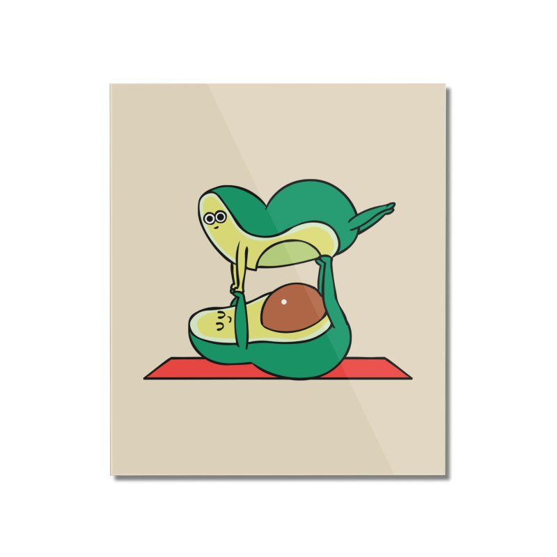 Acroyoga Avocado Home Mounted Acrylic Print by huebucket's Artist Shop
