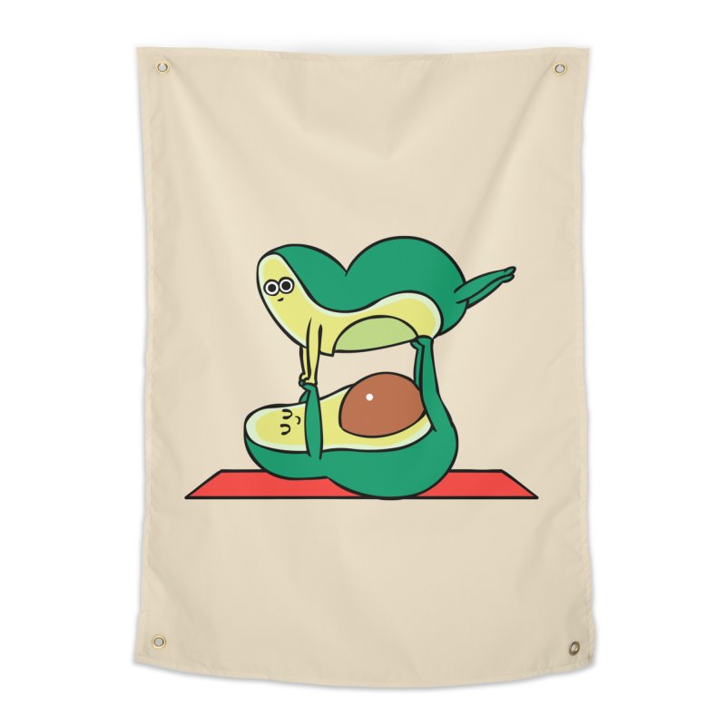 Acroyoga Avocado Home Tapestry by huebucket's Artist Shop