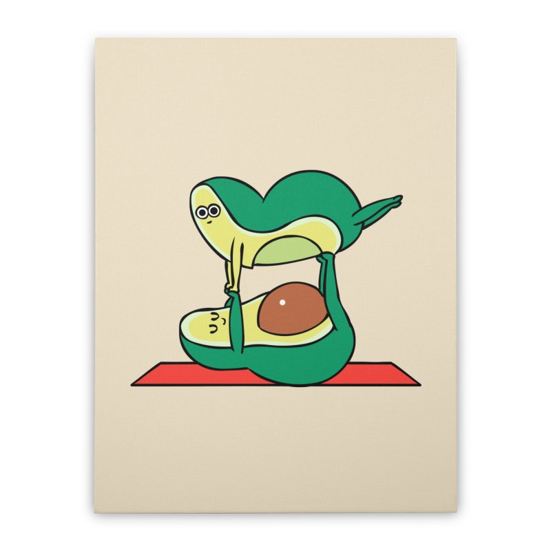 Acroyoga Avocado Home Stretched Canvas by huebucket's Artist Shop