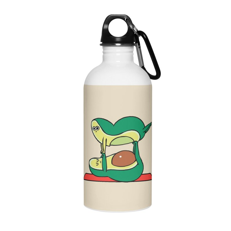 Acroyoga Avocado Accessories Water Bottle by huebucket's Artist Shop