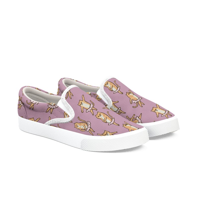 Ballet Cat Women's Slip-On Shoes by huebucket's Artist Shop
