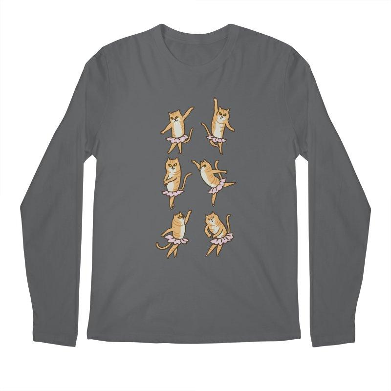Ballet Cat Men's Regular Longsleeve T-Shirt by huebucket's Artist Shop