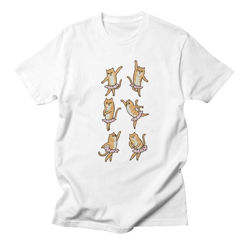 Ballet Cat Men's Regular T-Shirt by huebucket's Artist Shop
