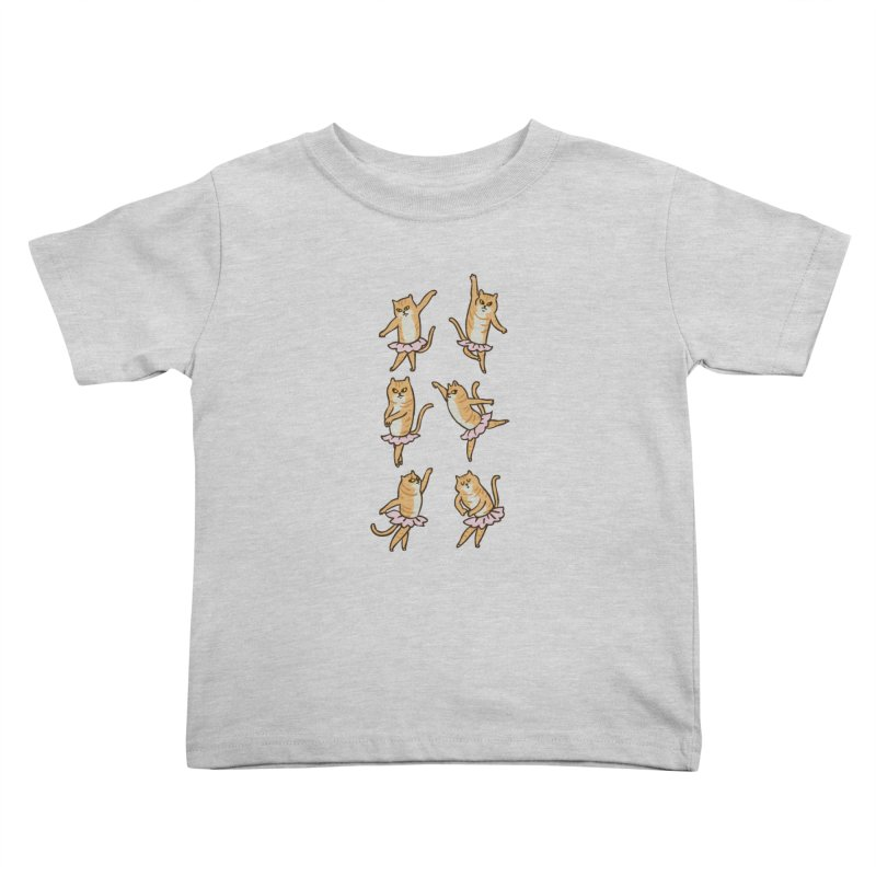 Ballet Cat Kids Toddler T-Shirt by huebucket's Artist Shop