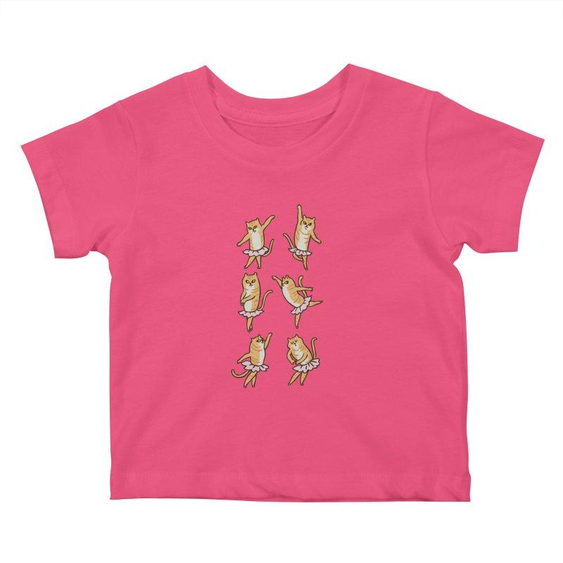 Ballet Cat Kids Baby T-Shirt by huebucket's Artist Shop