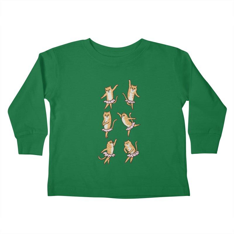 Ballet Cat Kids Toddler Longsleeve T-Shirt by huebucket's Artist Shop