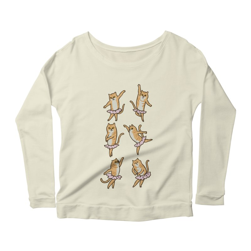 Ballet Cat Women's Scoop Neck Longsleeve T-Shirt by huebucket's Artist Shop