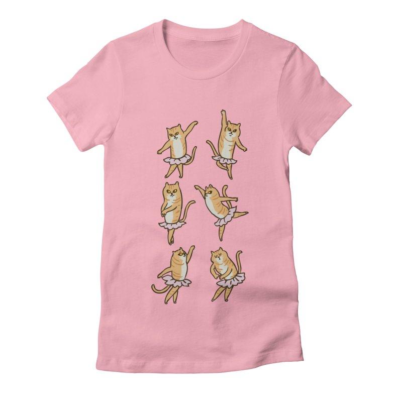 Ballet Cat Women's Fitted T-Shirt by huebucket's Artist Shop