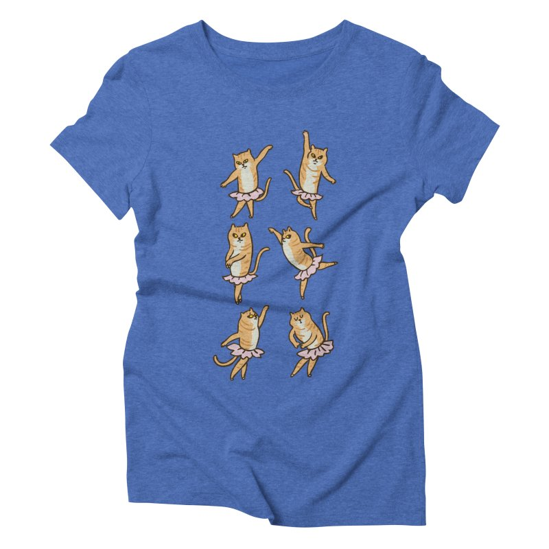 Ballet Cat Women's Triblend T-Shirt by huebucket's Artist Shop