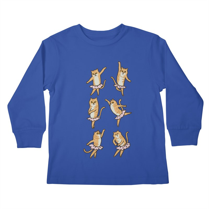 Ballet Cat Kids Longsleeve T-Shirt by huebucket's Artist Shop