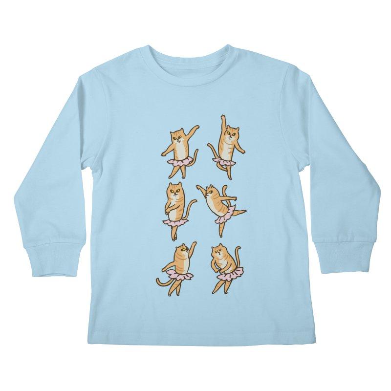 Ballet Cat Kids Longsleeve T-Shirt by huebucket's Artist Shop