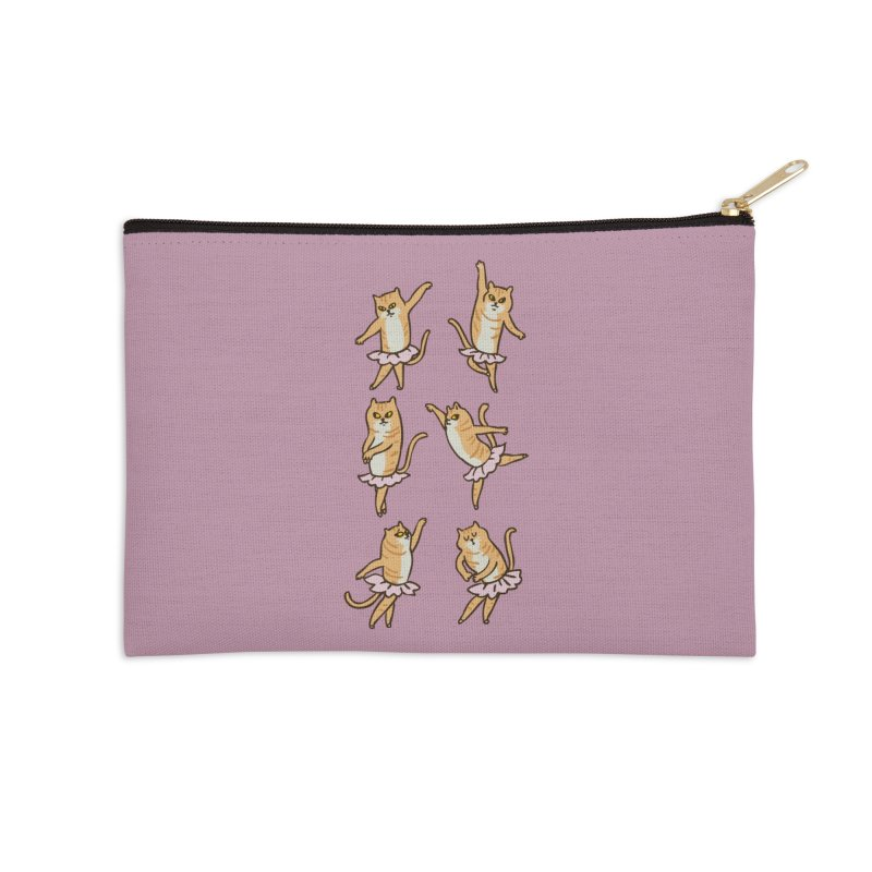 Ballet Cat Accessories Zip Pouch by huebucket's Artist Shop