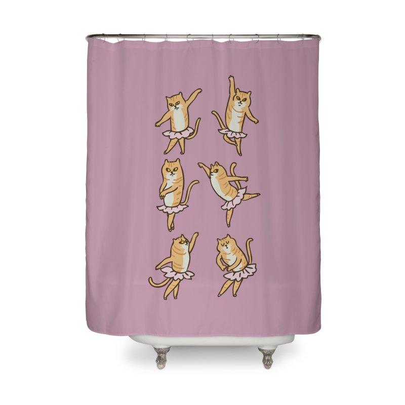 Ballet Cat Home Shower Curtain by huebucket's Artist Shop