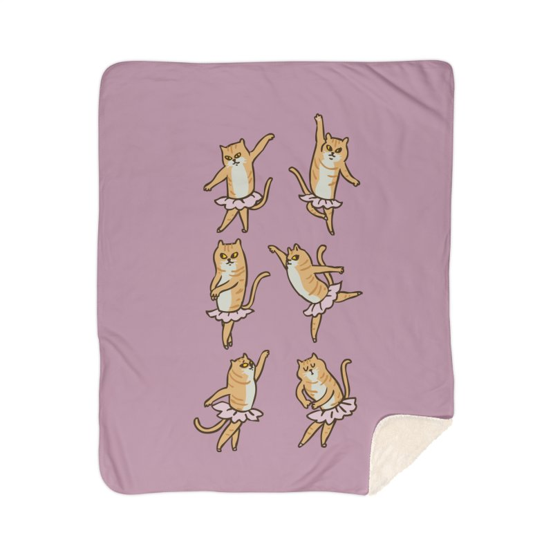Ballet Cat Home Sherpa Blanket Blanket by huebucket's Artist Shop