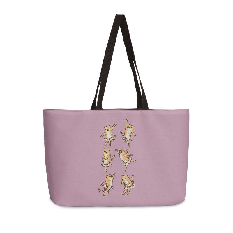 Ballet Cat Accessories Weekender Bag Bag by huebucket's Artist Shop