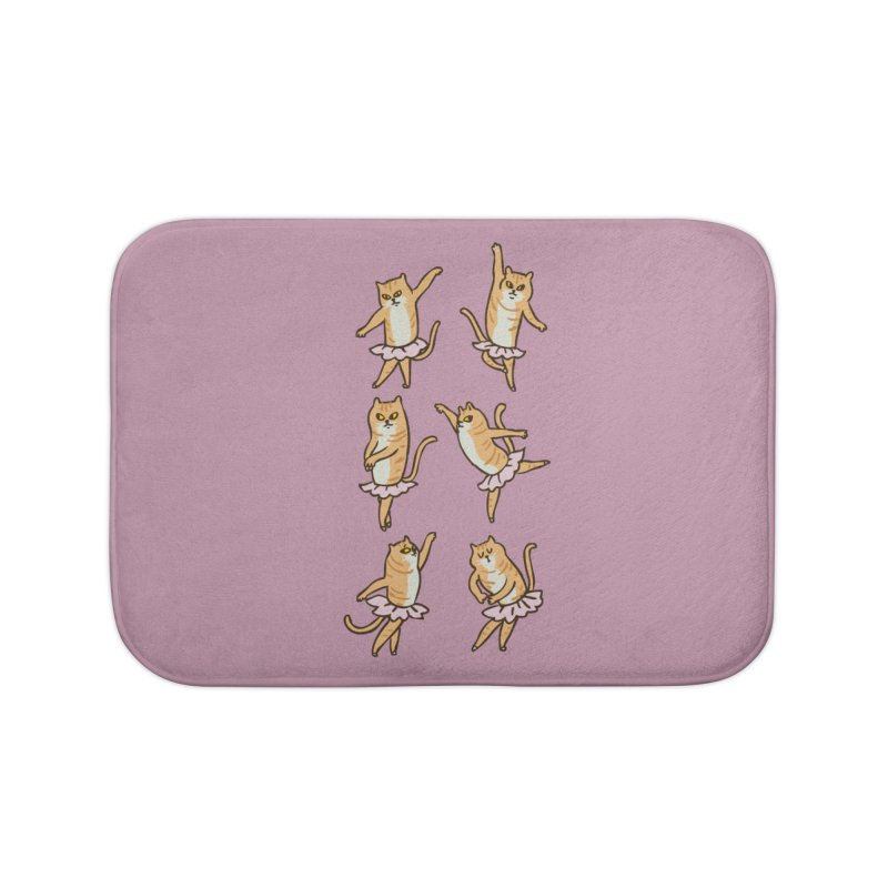 Ballet Cat Home Bath Mat by huebucket's Artist Shop