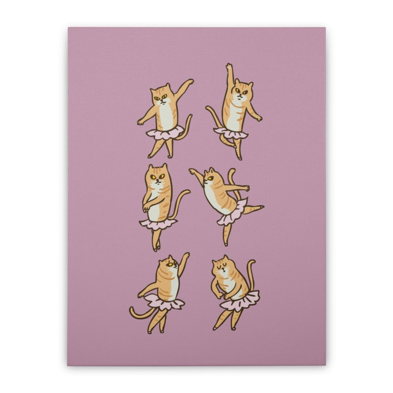 Ballet Cat Home Stretched Canvas by huebucket's Artist Shop