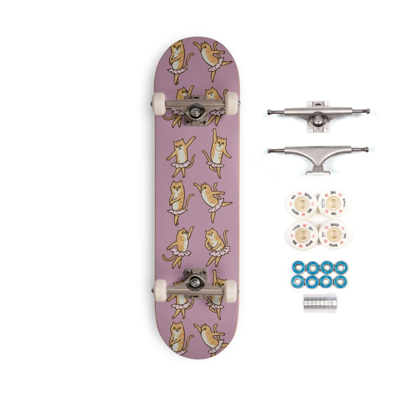Ballet Cat Accessories Complete - Premium Skateboard by huebucket's Artist Shop