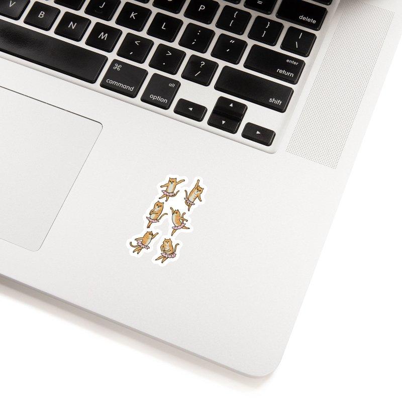 Ballet Cat Accessories Sticker by huebucket's Artist Shop