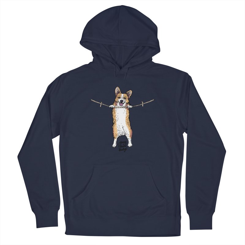 Hang In There Baby Corgi Men's Pullover Hoody by huebucket's Artist Shop