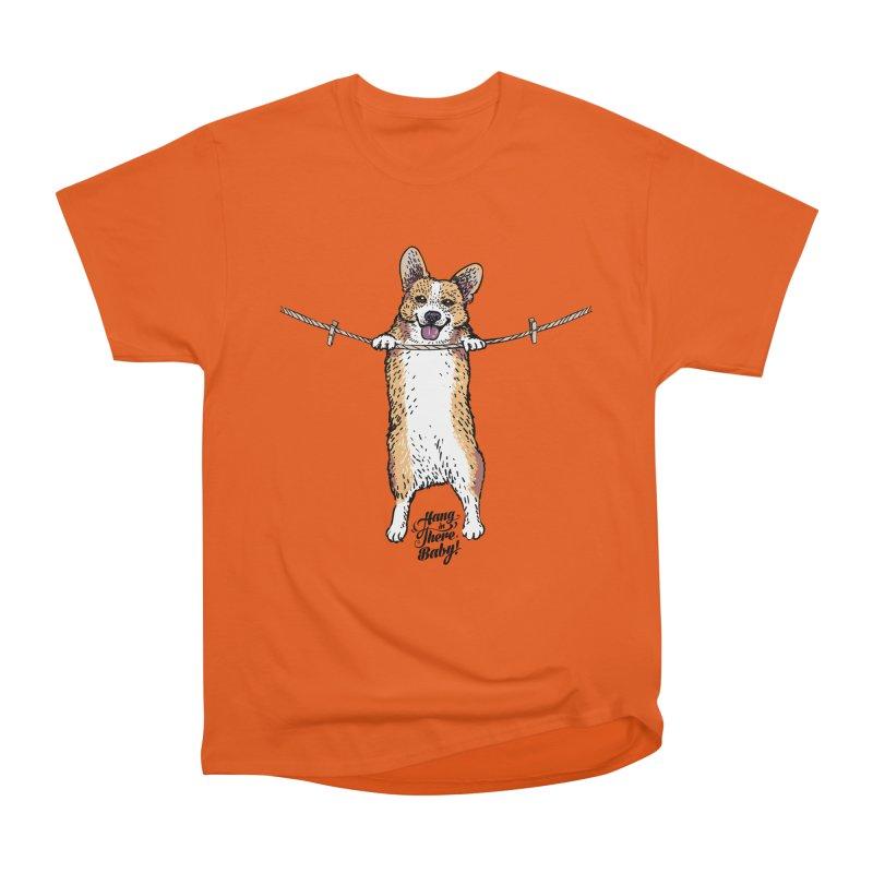 Hang In There Baby Corgi Men's T-Shirt by huebucket's Artist Shop