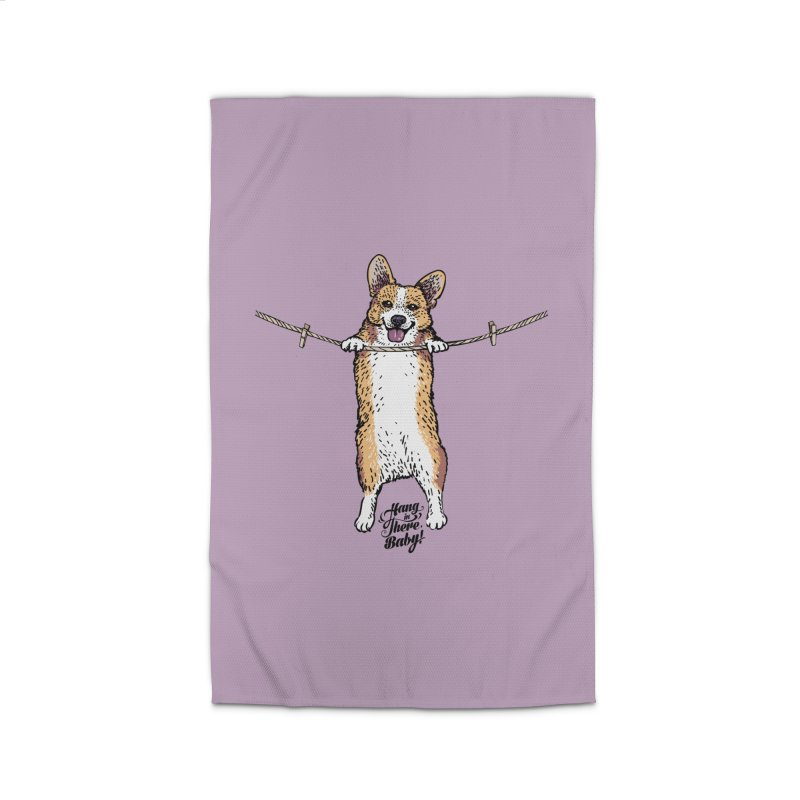 Hang In There Baby Corgi Home Rug by huebucket's Artist Shop