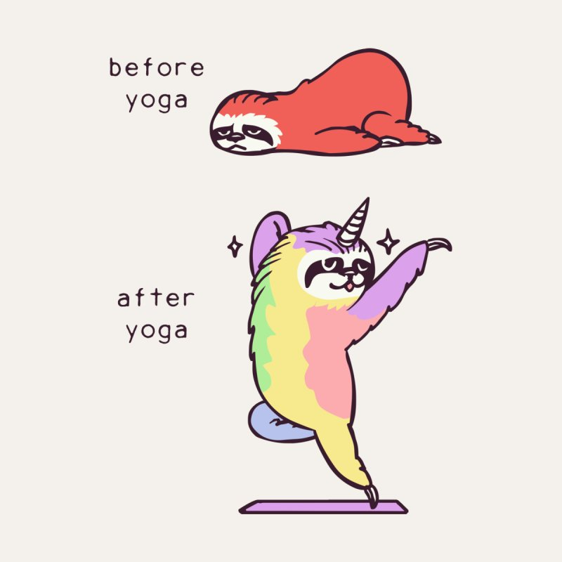 Sloth After Yoga by huebucket's Artist Shop
