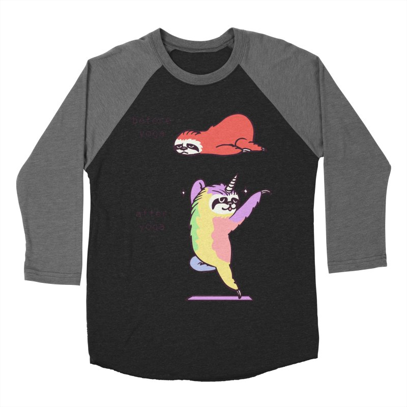 Sloth After Yoga Men's Baseball Triblend Longsleeve T-Shirt by huebucket's Artist Shop