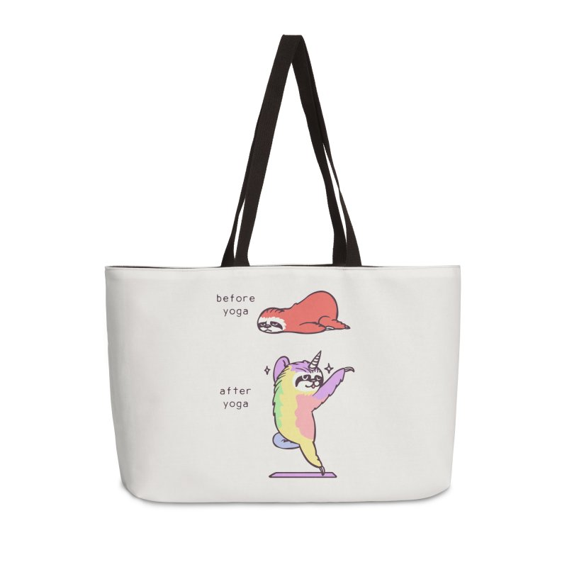 Sloth After Yoga Accessories Weekender Bag Bag by huebucket's Artist Shop