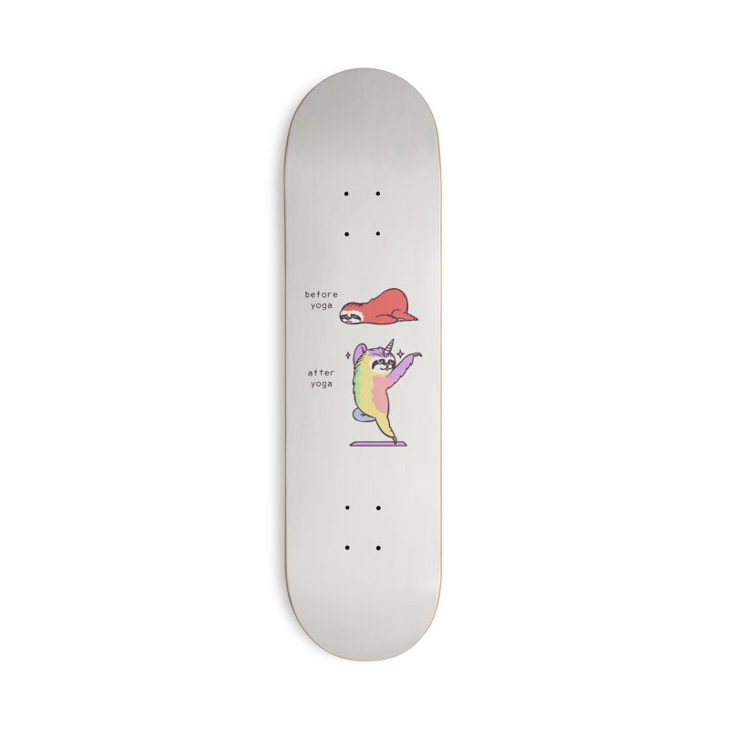 Sloth After Yoga Accessories Deck Only Skateboard by huebucket's Artist Shop