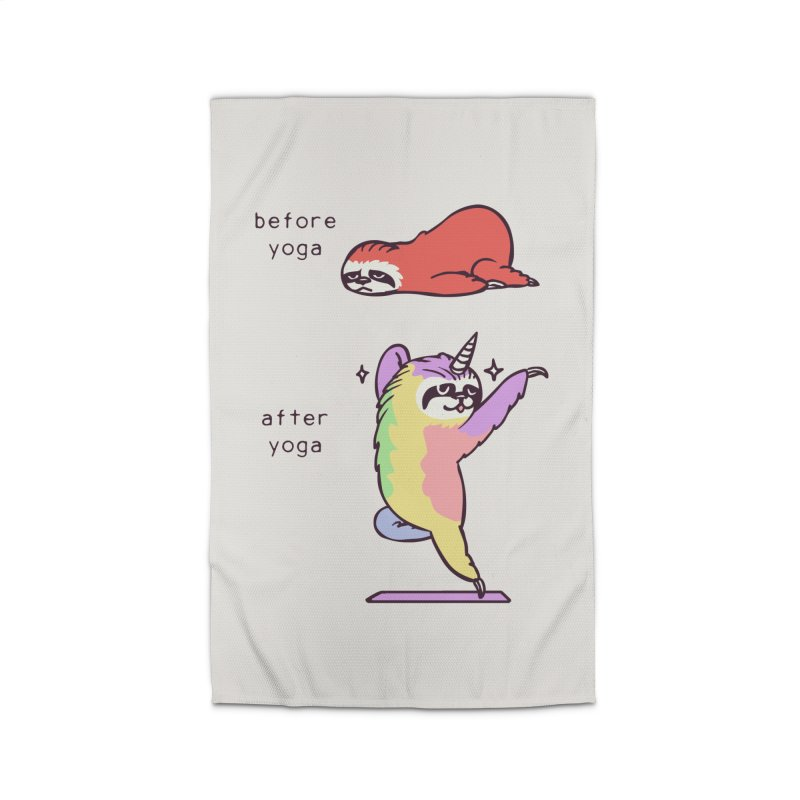 Sloth After Yoga Home Rug by huebucket's Artist Shop
