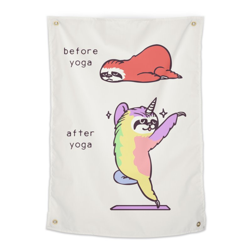 Sloth After Yoga Home Tapestry by huebucket's Artist Shop