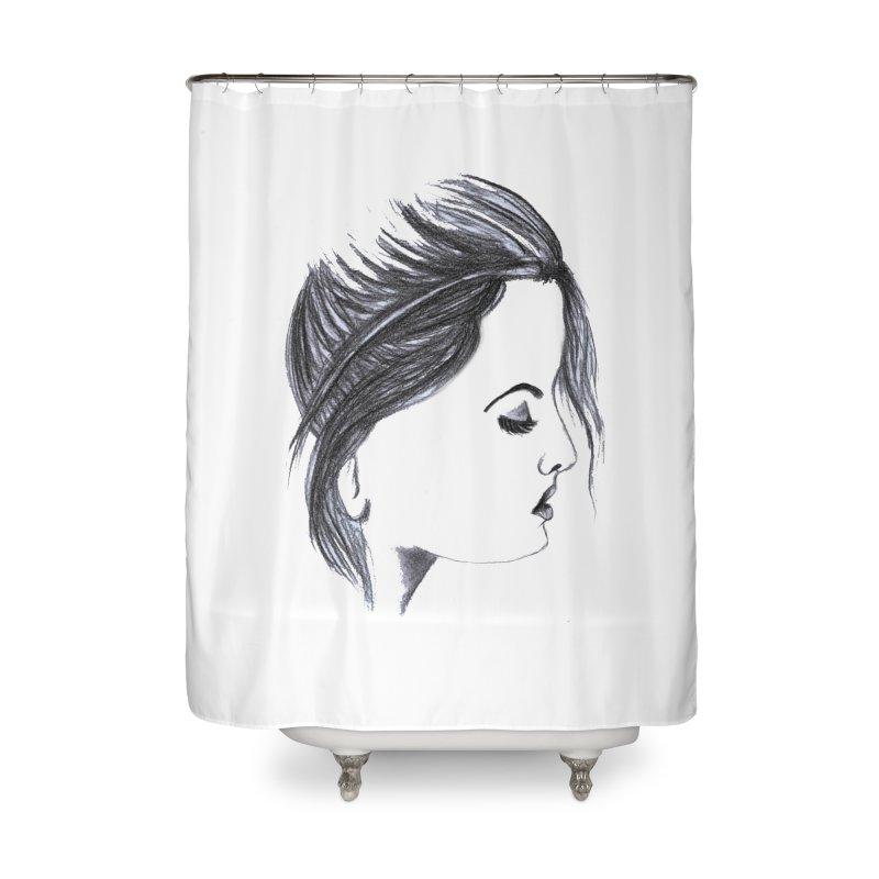 She Home Shower Curtain by Hue Hub