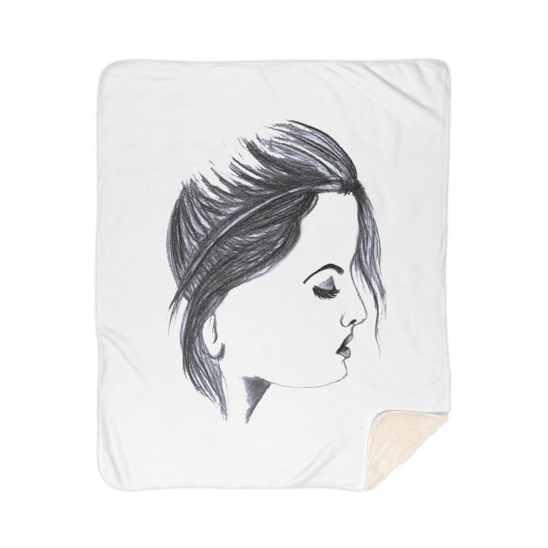 She Home Sherpa Blanket Blanket by Hue Hub