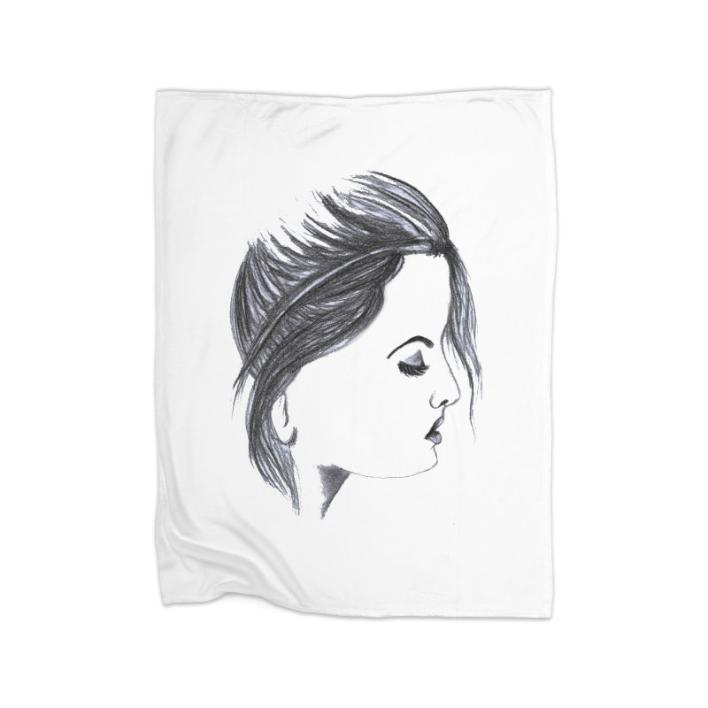 She Home Fleece Blanket Blanket by Hue Hub
