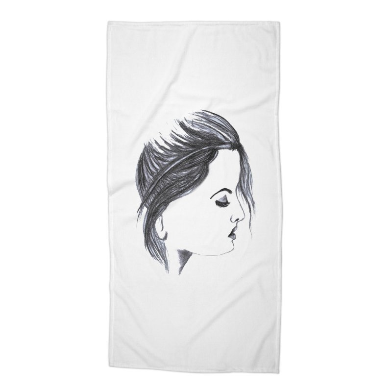 She Accessories Beach Towel by Hue Hub