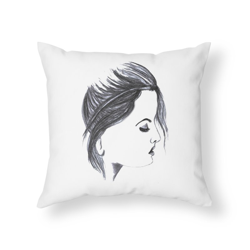 She in Throw Pillow by Hue Hub