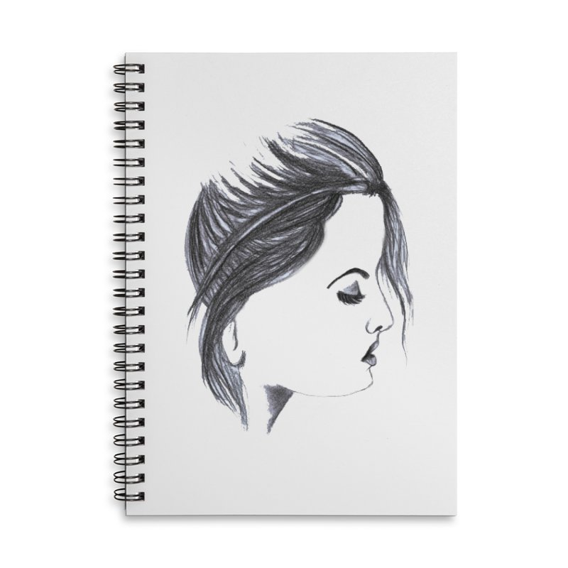 She Accessories Lined Spiral Notebook by Hue Hub