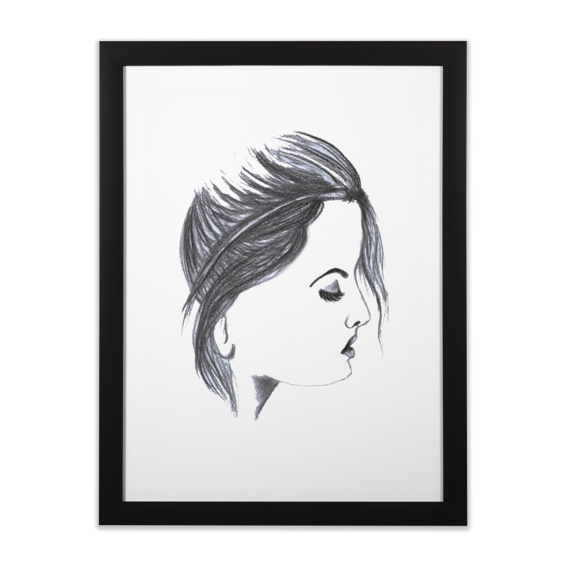 She Home Framed Fine Art Print by Hue Hub