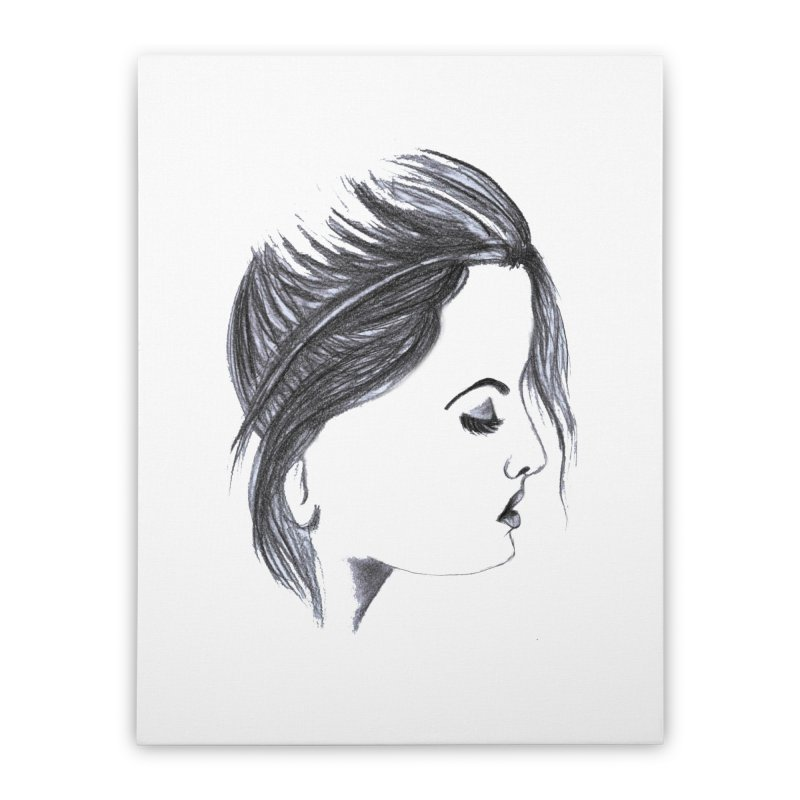 She Home Stretched Canvas by Hue Hub