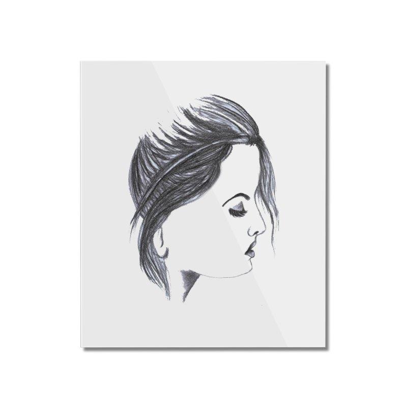 She Home Mounted Acrylic Print by Hue Hub