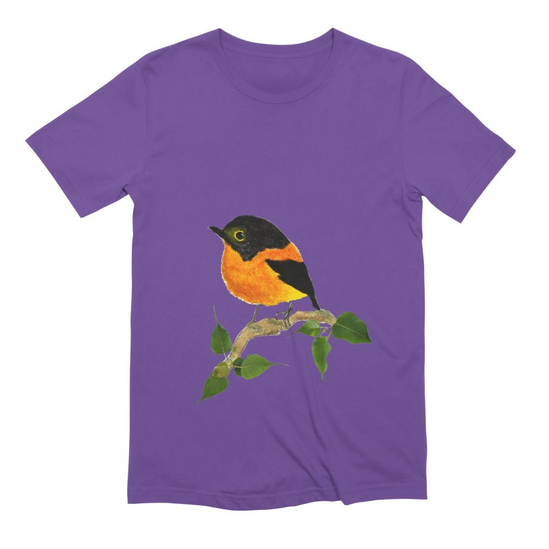 Orange FlyCatcher Men's Extra Soft T-Shirt by Hue Hub