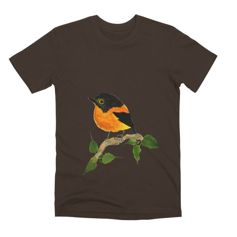 Orange FlyCatcher Men's Premium T-Shirt by Hue Hub