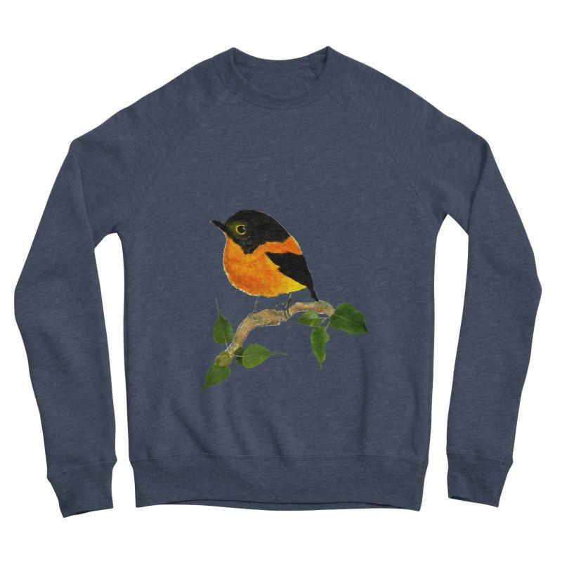 Orange FlyCatcher Women's Sponge Fleece Sweatshirt by Hue Hub