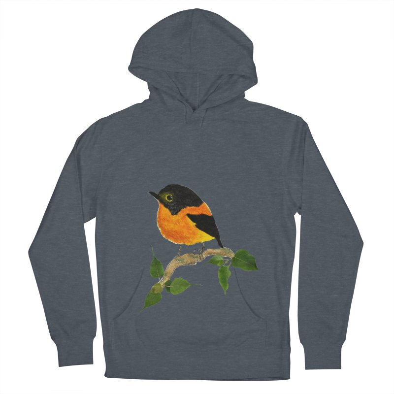 Orange FlyCatcher Women's French Terry Pullover Hoody by Hue Hub