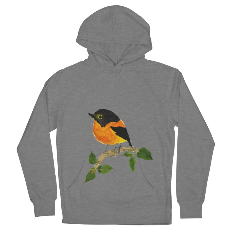 Orange FlyCatcher Men's French Terry Pullover Hoody by Hue Hub